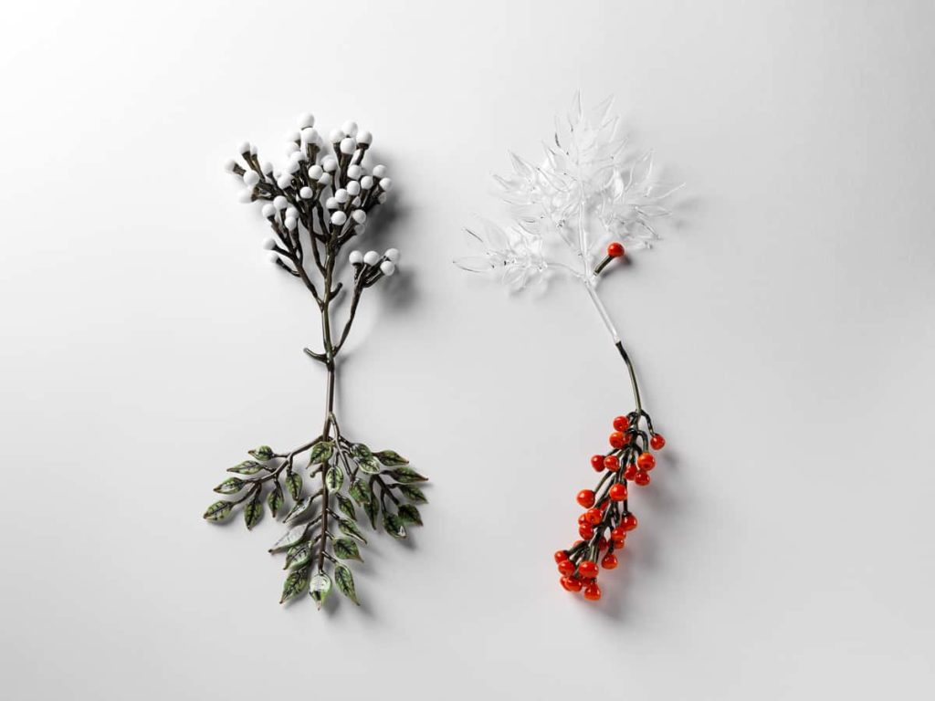 Jess Dare, Conceptual Flowering Plant Series, 2013, Flamework glass, dimensions vary, Photo Grant Hancock.