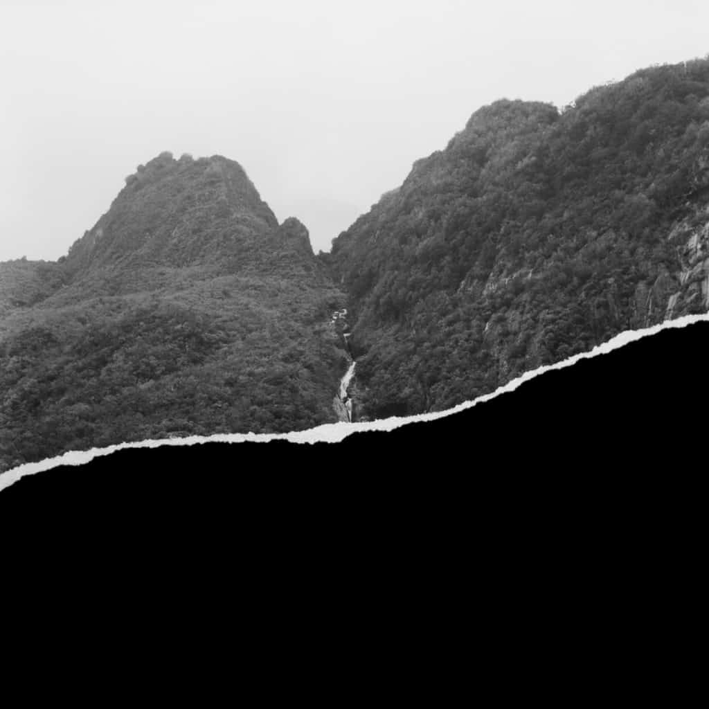 James Tylor, 2015, Aotearoa my Hawaiki #4, Inkjet print on hahnemuhle paper with rip, 50x25cm