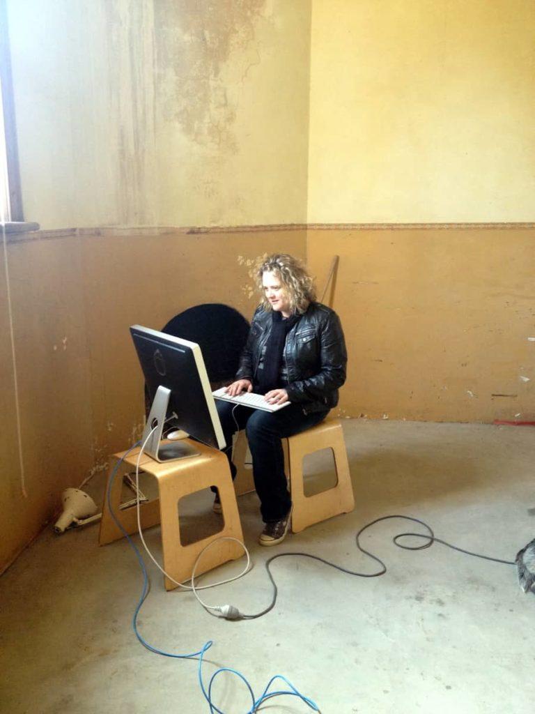 Rachel Harris in studio