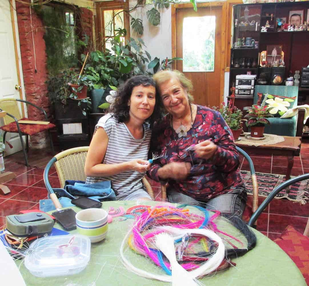 Trinidad Estay and Amanda Salas
