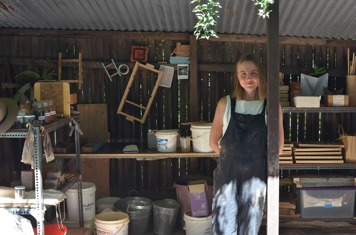 Clare Elizabeth Kennedy's Five Mile Radius workshop in the Foundry Studios. Red Hill, QLD, photo: Clare Elizabeth Kennedy