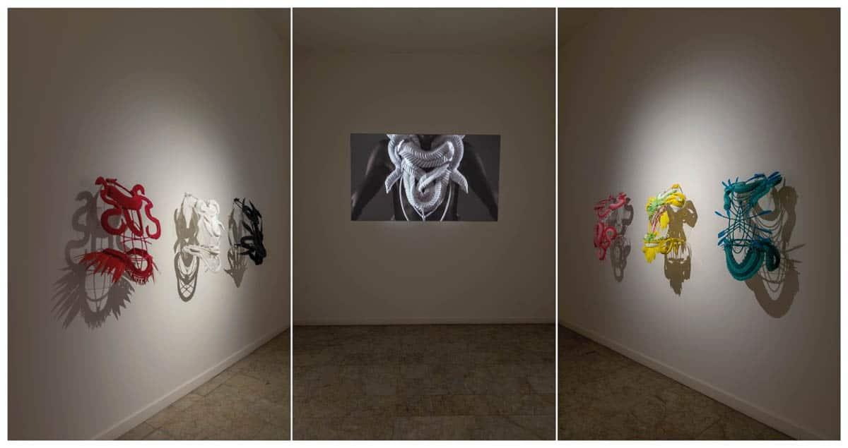 Grace Lillian Lee, Body Sculpture installation, 2016, Cairns Regional Gallery, photo: Michael Marzik