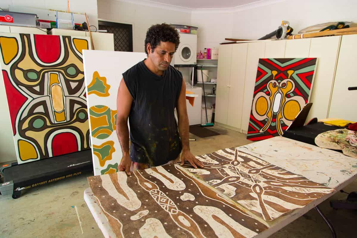 Napolean Oui in his studio, photo: Andrea Hylands Creative Cowboy films