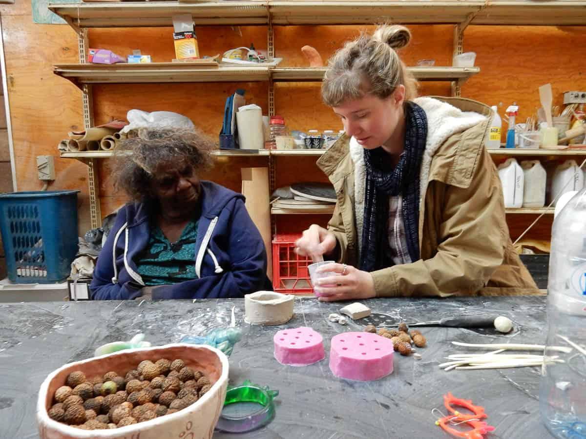 Niningka Lewis & Kate Rohde, Ernabella Arts Workshop