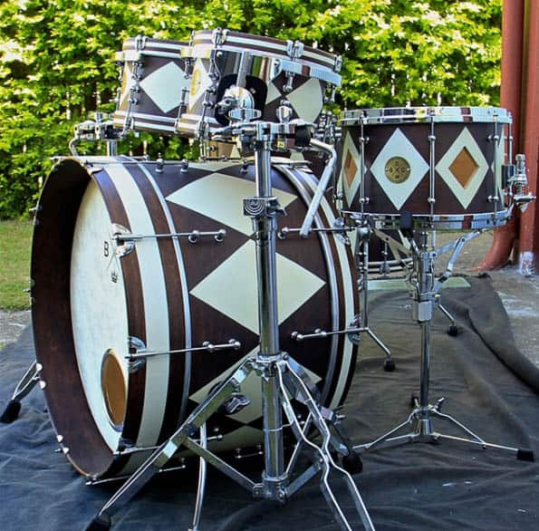 Peter Bosworth, custom drum kit. Image courtesy of the artist