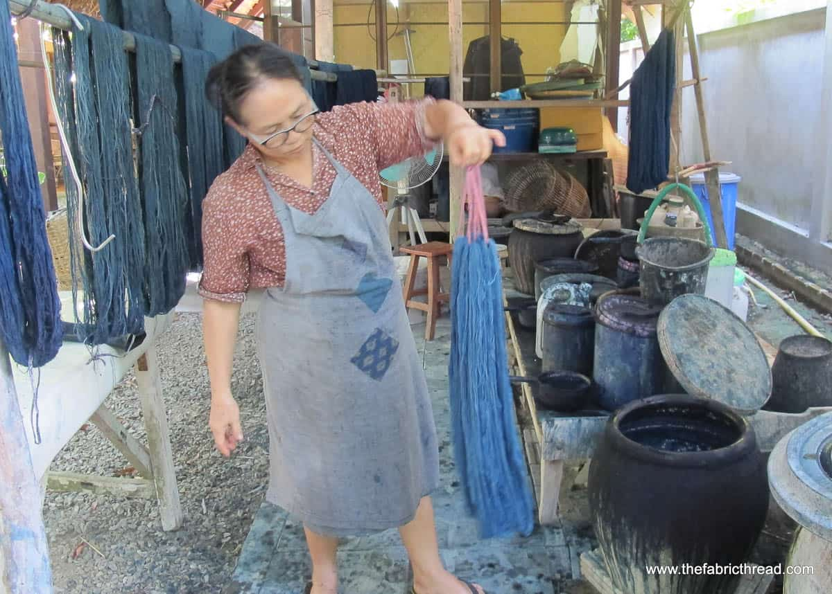Studio Naenna, indigo dyeing skeins