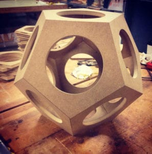 Unknowable Terrain - Before - Dodecahedron made of wood