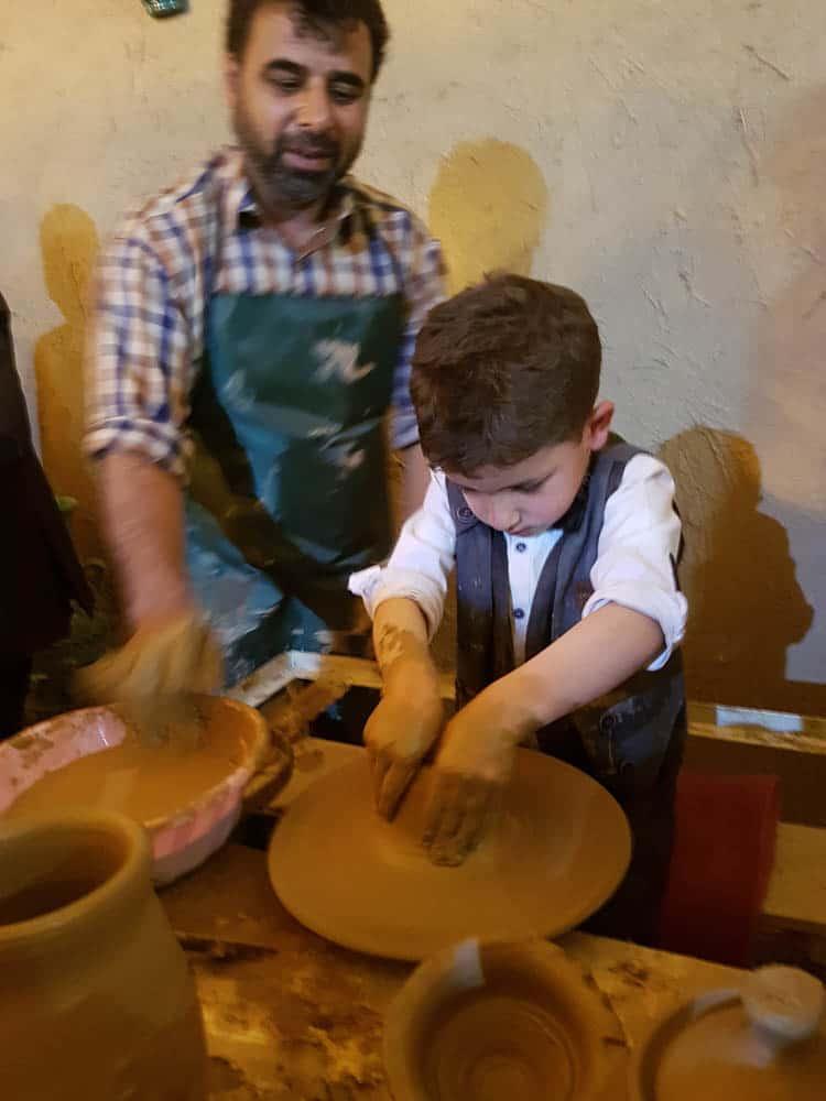 Five year old boy demonstrating throwing, Lalejin