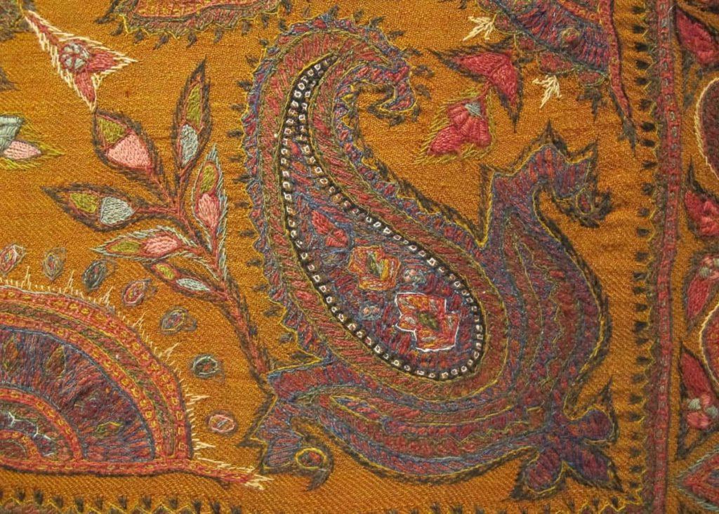Patteh, antique shawl boteh detail