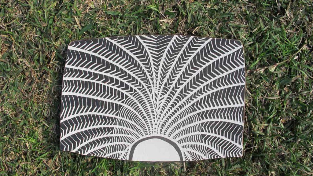 Lola Simmons, Plaque, 2015, earthenware