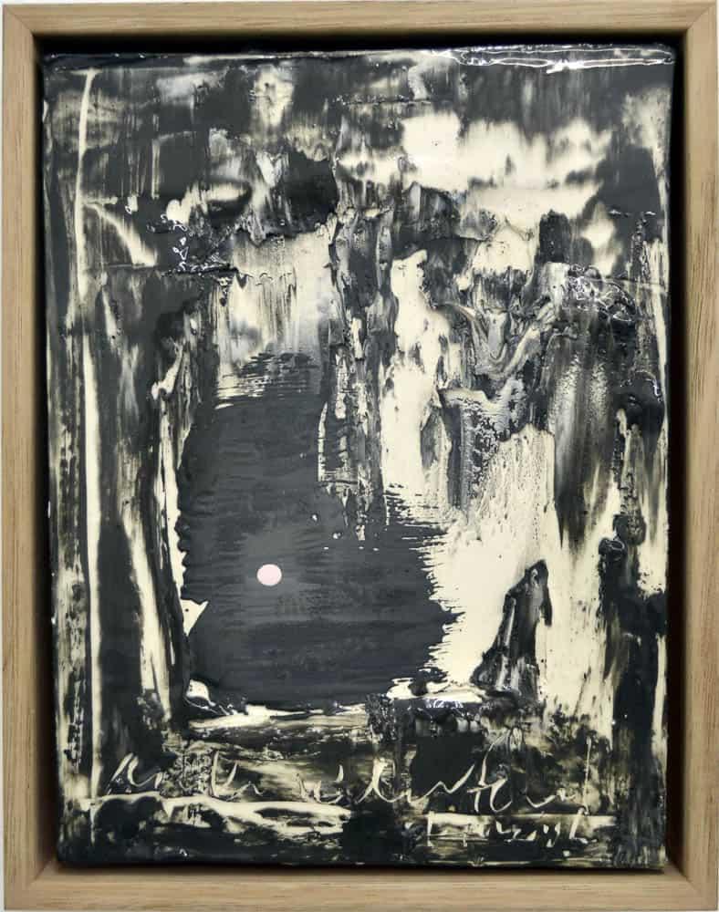 Irene Grishin-Seltzer, Nocturne - Meet you at the Lake, 2015, porcelain, glaze and underglaze, 30 x 24 cm