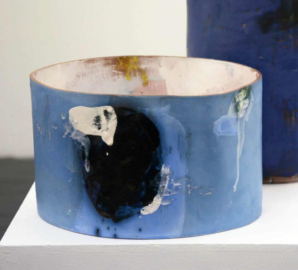 Kate Jones, Untitled, 2016, terracotta, slips and glaze, 37 x 22.5 x 28 cm approx