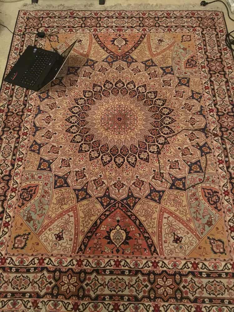 Dome design rug from Tabriz, now in Wollongong.
