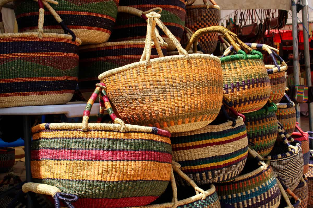 Basket Weaving Adelaide : Garland paying the school fees bolga baskets in ghana