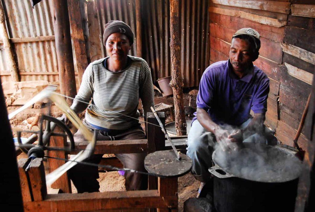 The studio of Ranoasy Hilaire Antsirabe Madagascar, photo: Andrée Mathide Etheve