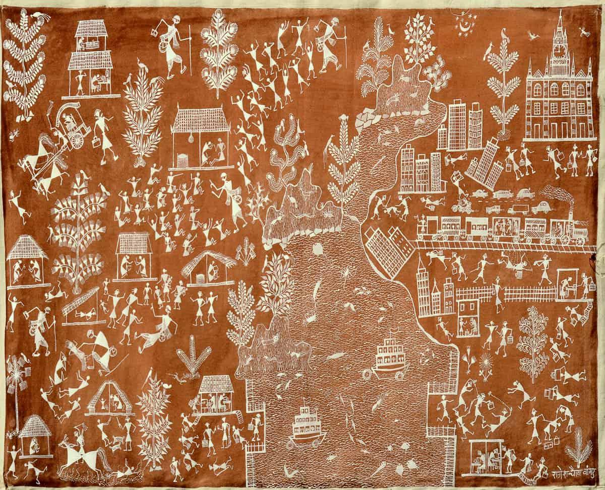 Garland rajesh chaitya vangad maharashtra gandhi katha 1 warli rajesh chaitya vangad maharashtra gandhi katha 1 warli painting 31x54cm thecheapjerseys Gallery