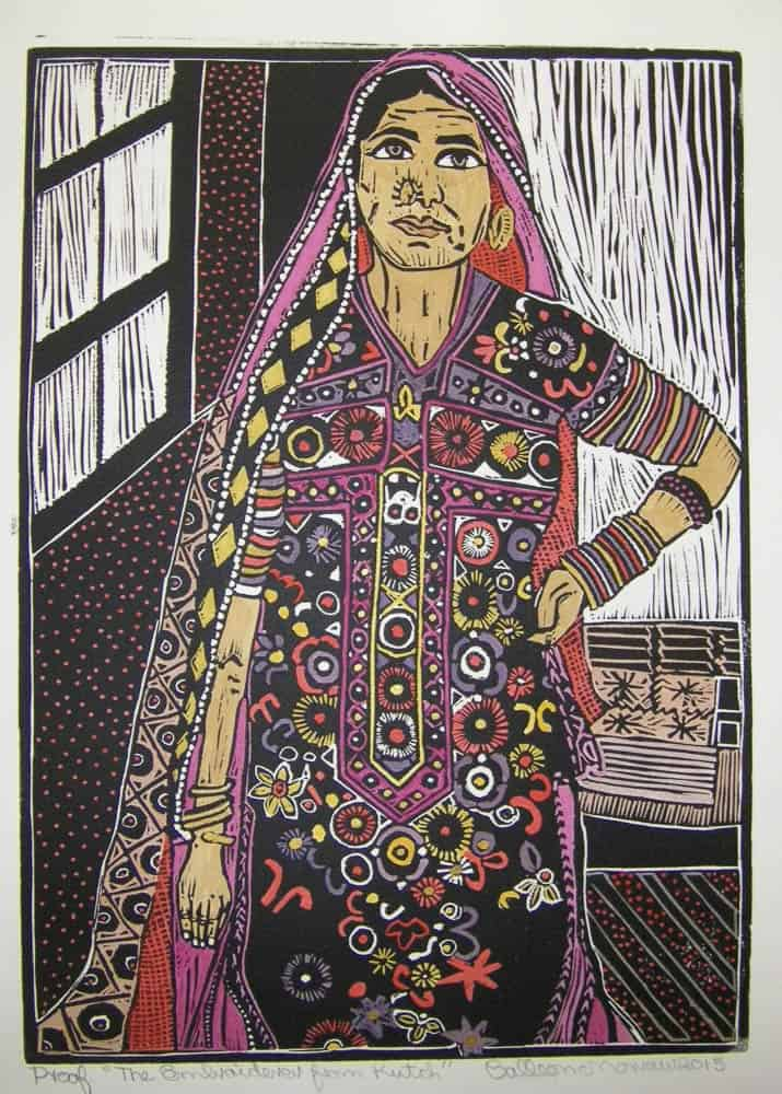 Colleen Morrow Rabari woman