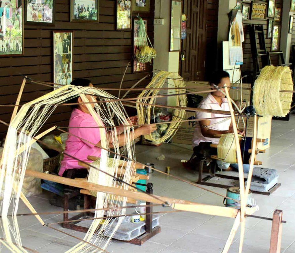 Silk yarn, Baantoomthomg group, Buriram Province