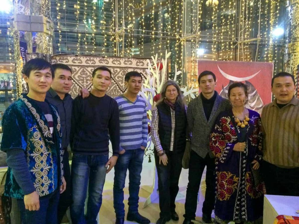 Martina Dempf with Kazakh craftspersons