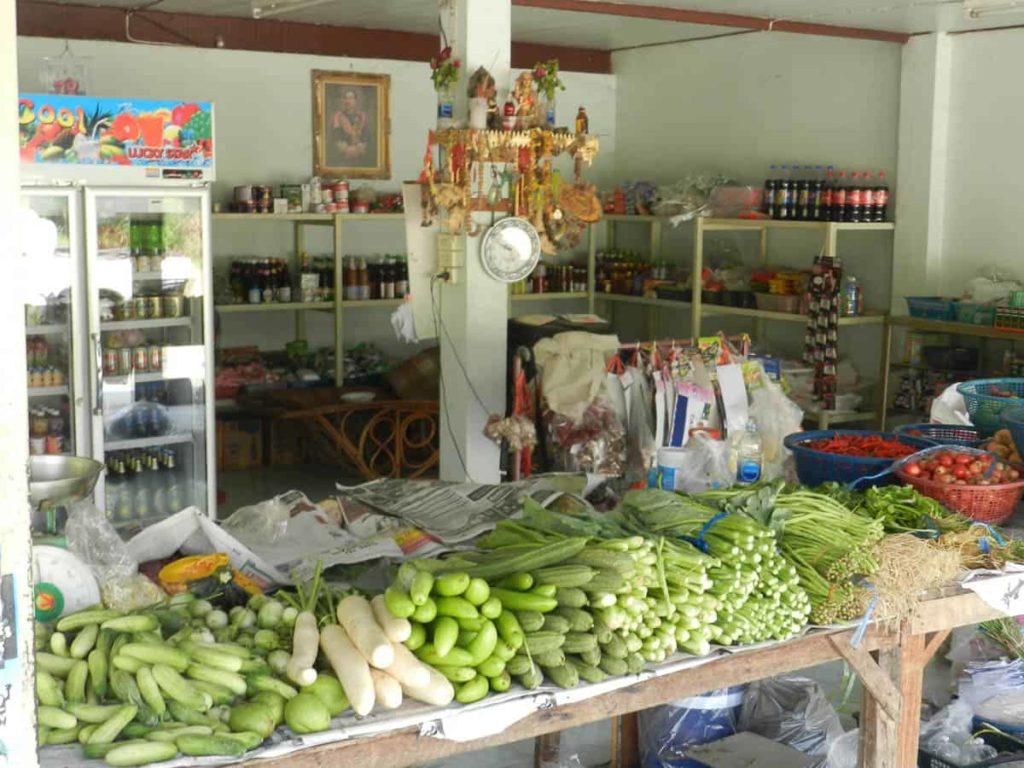 Danwkian Green Grocer in the village