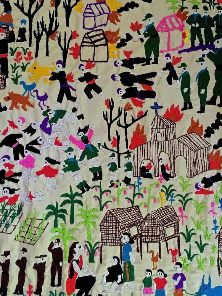 Jakkai Siributr, IDP Story Cloth #1 (Details), 2016, Hand Embroidery, 150x290 cm