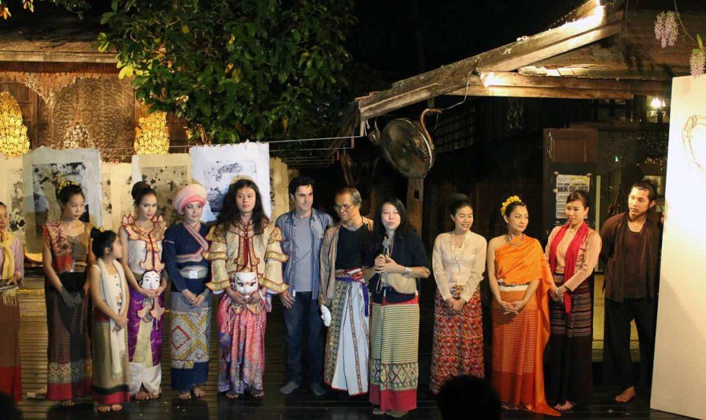Rushdi Anwar, Hanging Issues, 2010, Ne Na Contemporary Art Space/Baan Monfai, Chiang Mai, Thailand, Opening night.