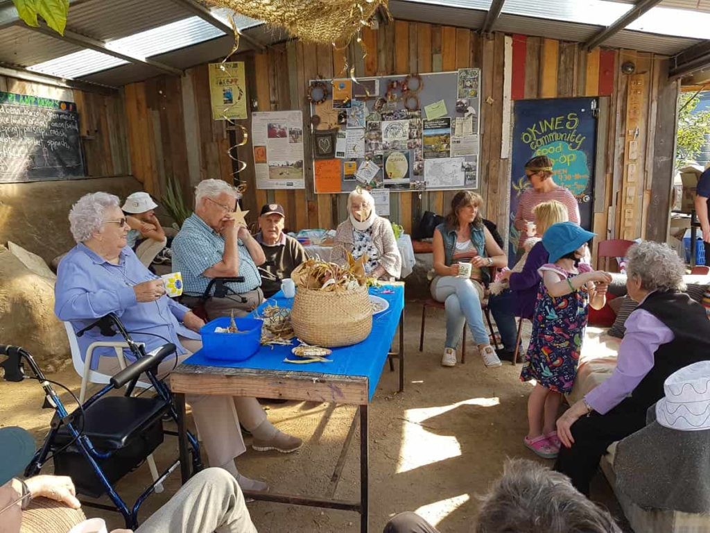 DIGnity day activities in the Okines Community Garden shed