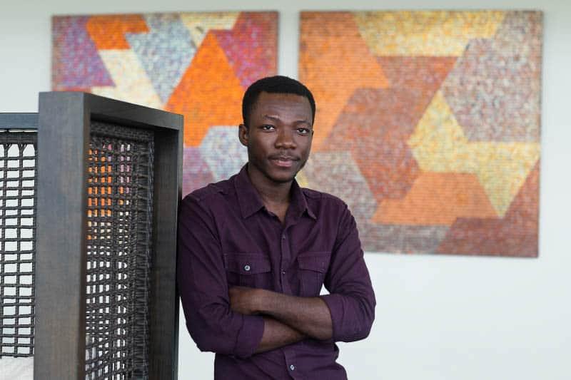 Yaw Owusu ,the artist  courtesy Gallery 1957  Accra, photo by Nii Odzenma
