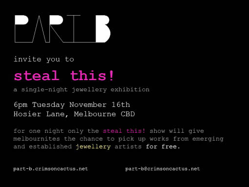 Advertisement for Part B, Steal This!