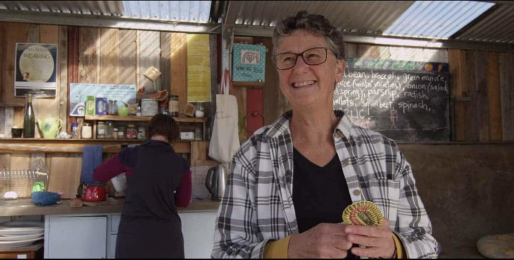 Gwen Egg at DIGnity Okines Garden shed