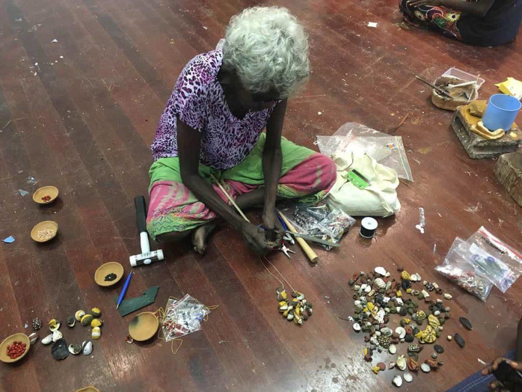 Madatjula Robyn Yunupiŋu in the workshop