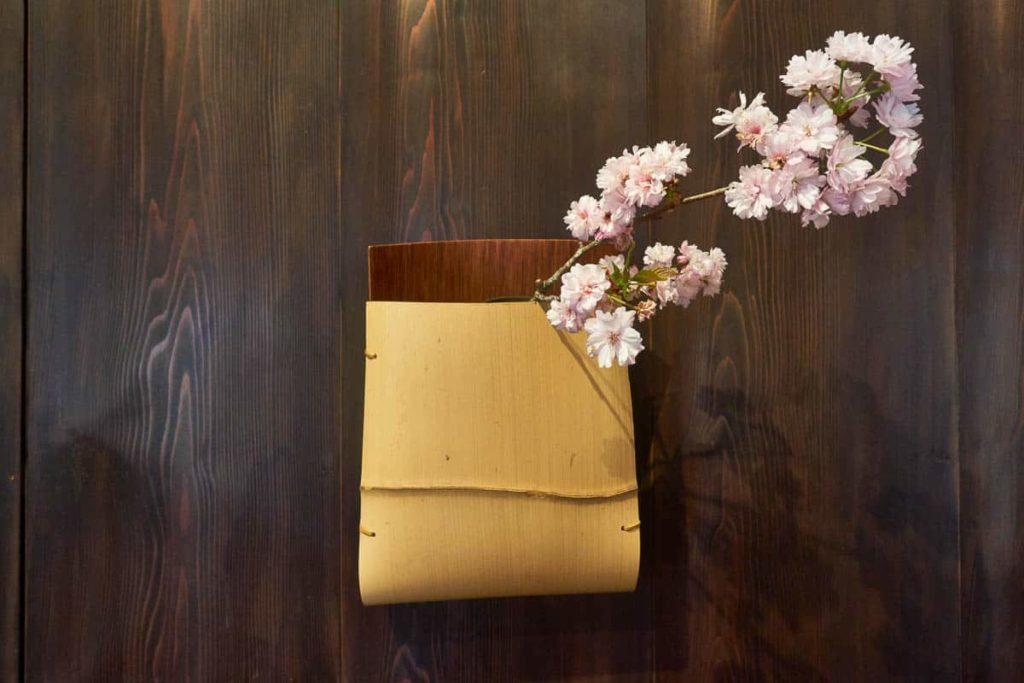 Hafu Matsumoto, Wide Noshitake bamboo flower vase, Rokan