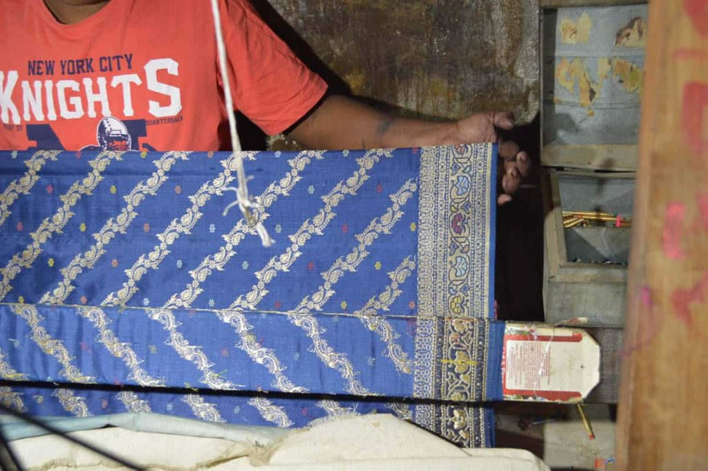 The indigo Ashavali Sari
