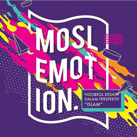 The poster of series of visual design events organize by MOVE (Moslem Visual Education) in Surabaya.
