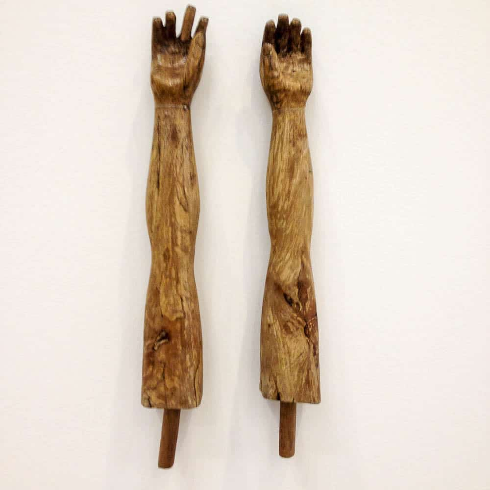Hand-carved arms, Nuevo san Juan Parangaricutiro, Michoacan