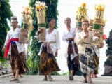 """Local authority Mas Ruscita offers a Balinese perspective on Banten Jerimpen, the diving offering that reaches to the sky and a reflection on the unique attitude of nakmulaketo (""""As it is"""")."""