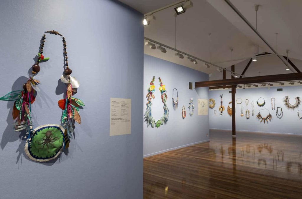 Lei it on install, Cairns Art Gallery 2017. Photo Michael Marzik