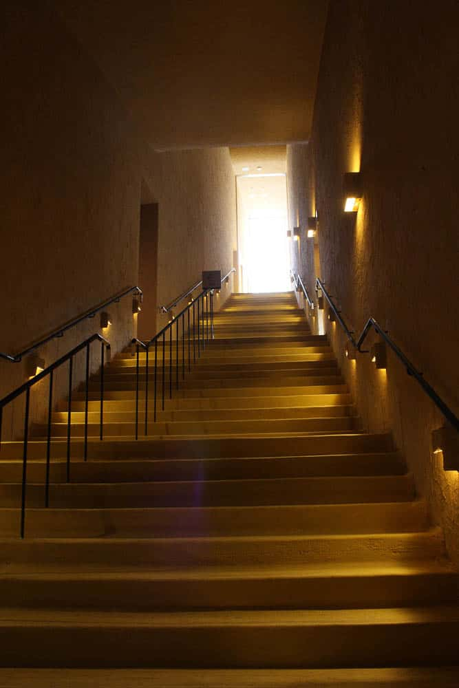 Staircase of the Mosaic Tile Museum, photo: Akitsugu Kojima