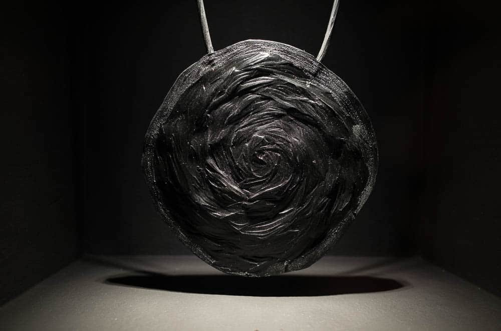 Debbie Adamson, Coal Stump, 2016, rubber,  150x150x10mm, Peieo Arico