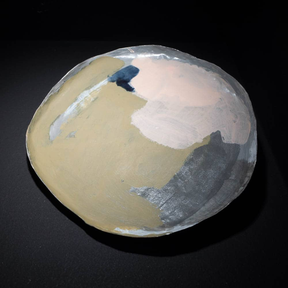 Vanessa Arthur_Paint, erase, repeat, 2017, copper, brass silver paint, 20mm x 160mm, photo Piero Arico