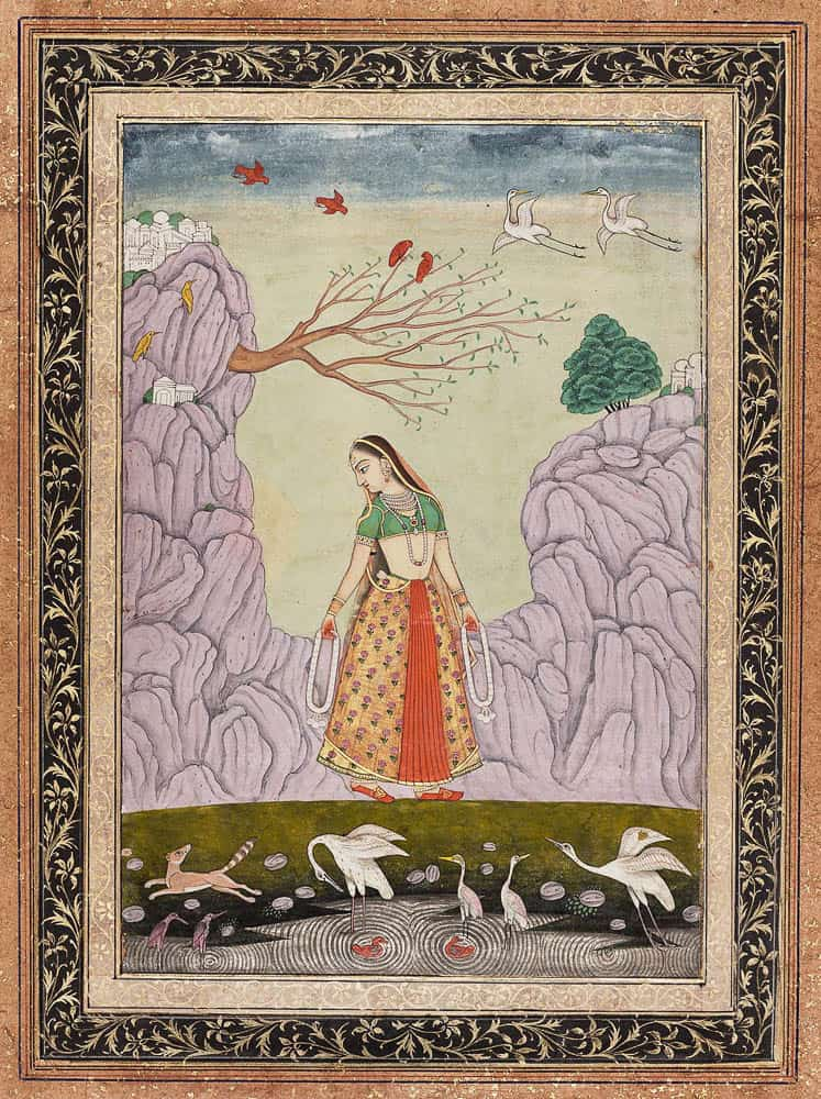 Kakubha Ragini (a folio form Ragamala series) Object place: possibly Hyderabad, Deccan, India Date: 18th century Source: www.mfa.org
