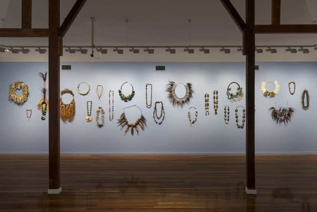 Installation view, Lei it on, Cairns Art Gallery 2017. Photo Michael Marzik