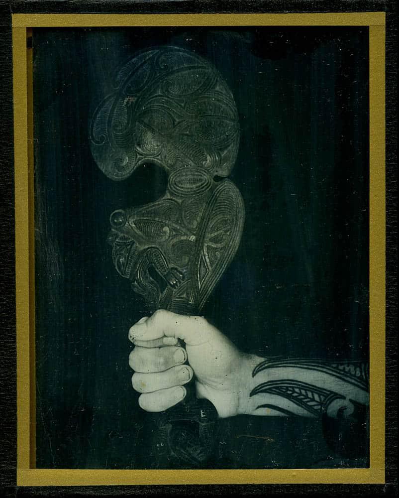 James Tylor, Pakanga (The Price of Land) 2017, Daguerreotype, 4x5in