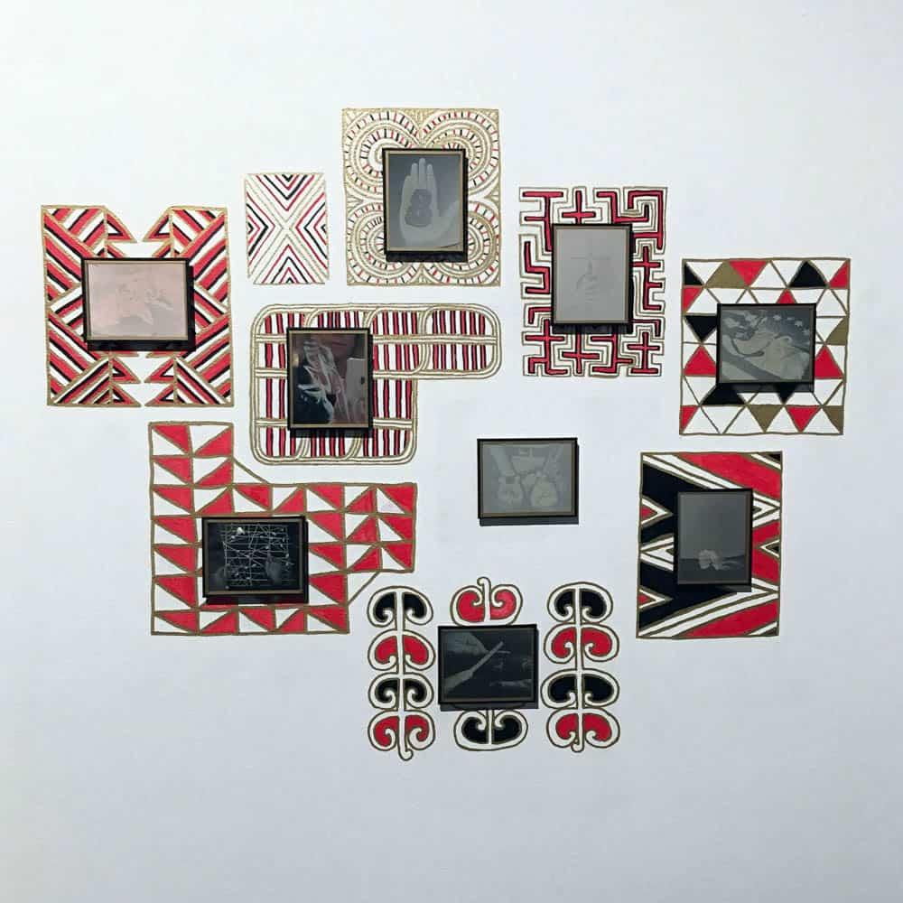 James Tylor, Te Moana Nui installation photograph at Monash Galley of Art, Melbourne, Australia 2