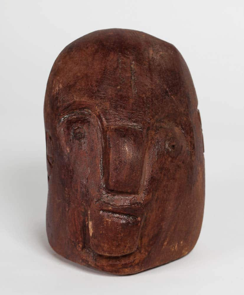 Anonymous artist associated with Big John Dodo, Untitled, undated, carved stone with paint, dimensions unknown, Collection of Dan and Diane Mossenson.