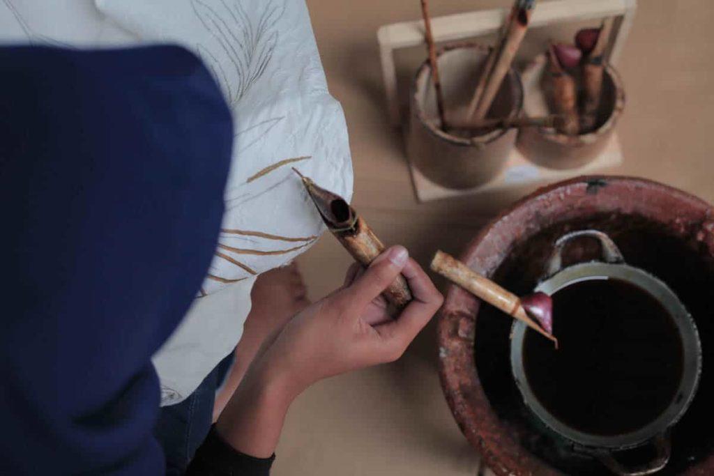 Hand made Batik processing