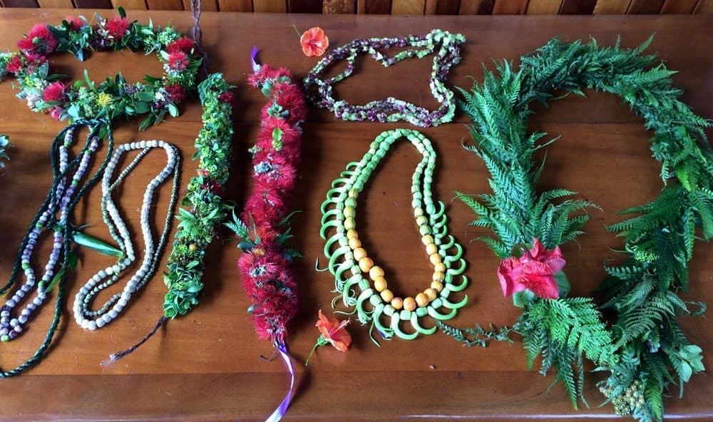 Lauren Shearer, Native Hawaiian wedding lei