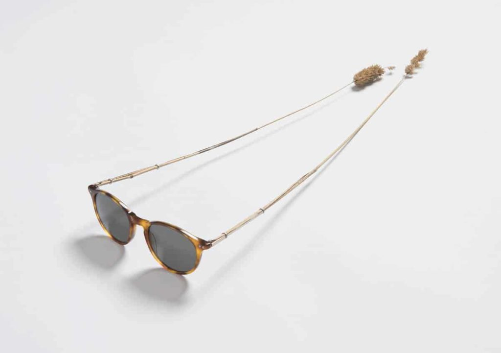 Jacqueline Bradley, Grass Glasses, 2016. Sunglasses, grass from the roadside near Cooma, Australia, aluminium tube (6cm x 14cm x 47cm) Photographer: Brenton McGeachie