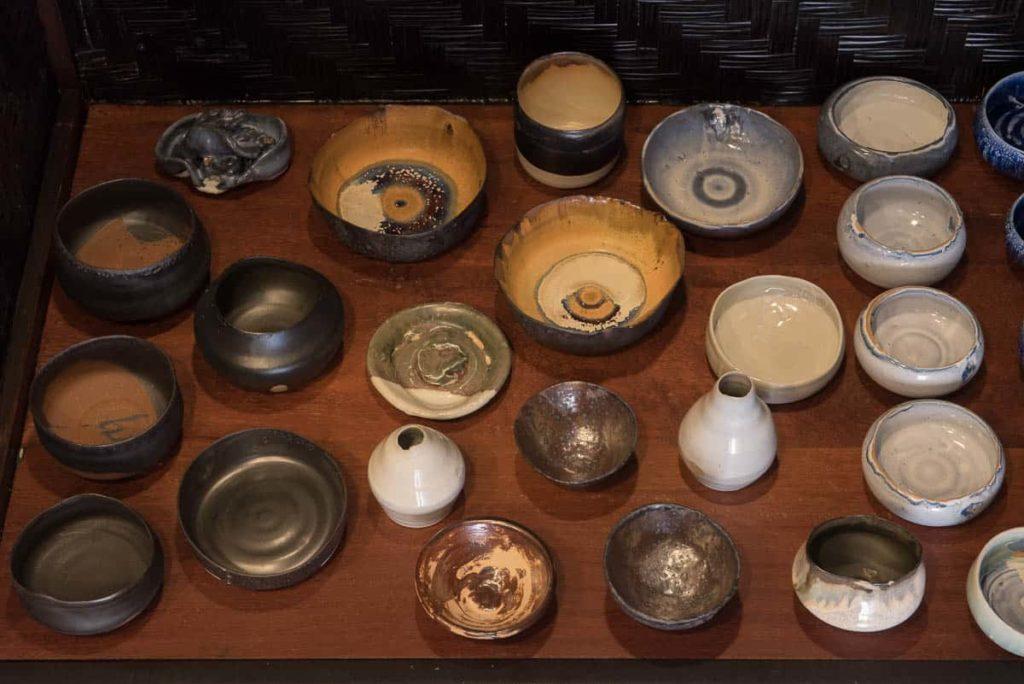 Ceramics made by Rirkrit Tiravanija