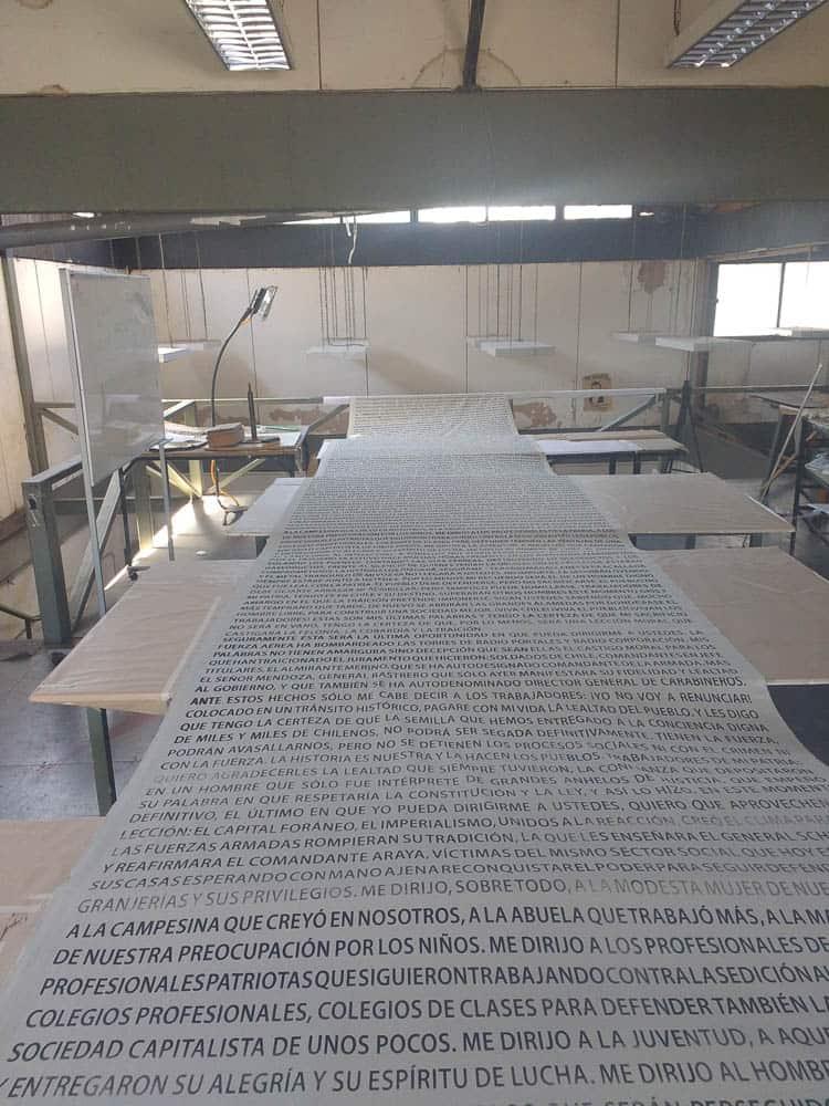 Constanza Urrutia Wegmann  serigraphy fabric process